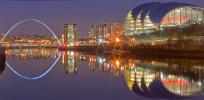 Newcastle's spectacular Quayside at night