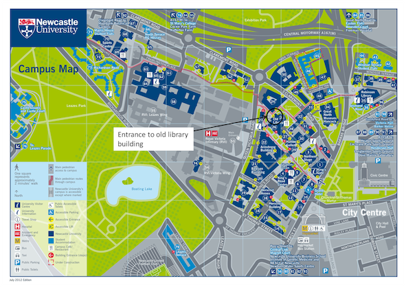 Newcastle Uni Map Venue and Accommodation; Northern Postgraduate Chem Eng Conference
